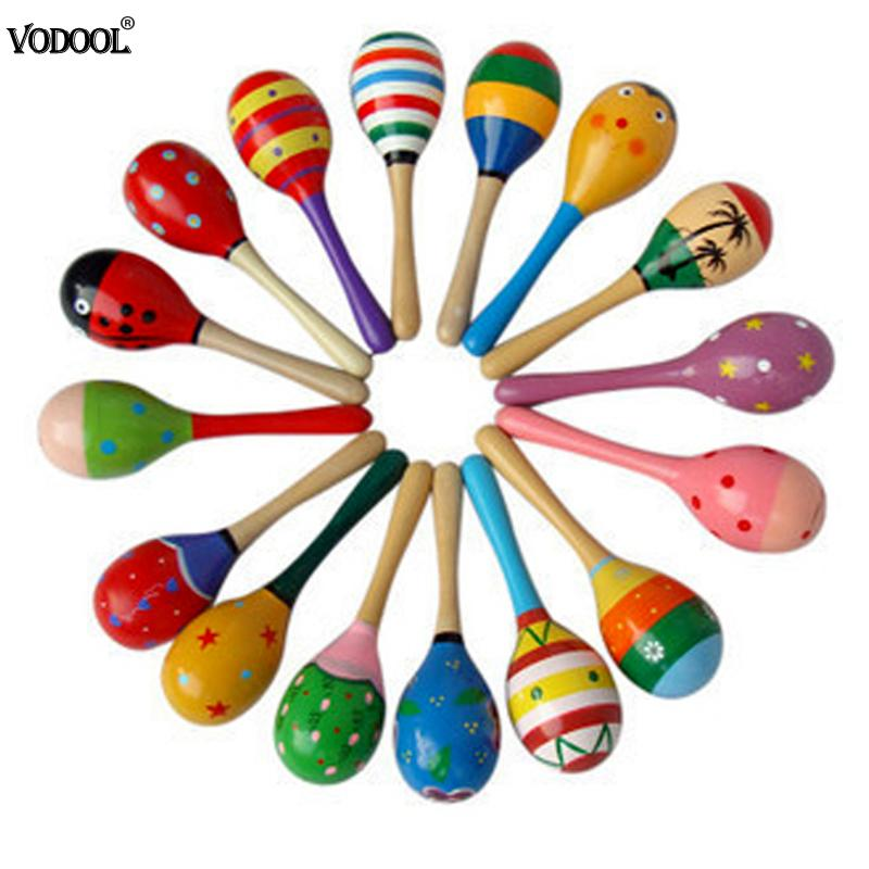 Baby Rattle Baby Toys Wooden Kids Child Sand Hammer Early Education Toy Musical Instrument Percussion Musical Chirdren Gifts