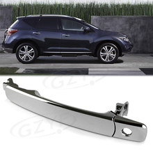Chrome Front Left Driver Side Outside Exterior Door Handle for Infiniti FX35 FX45 & For Nissan Murano Rogue