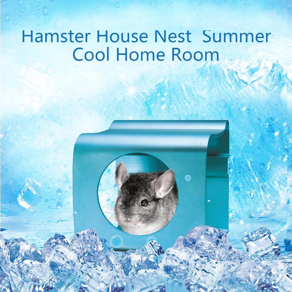 Small pet summer cooling house summer house Aluminum alloy heat absorption room Chinchilla Hamster Hanging Bed Essential CoolingSmall pet summer cooling house summer house Aluminum alloy heat absorption room Chinchilla Hamster Hanging Bed Essential Cooling