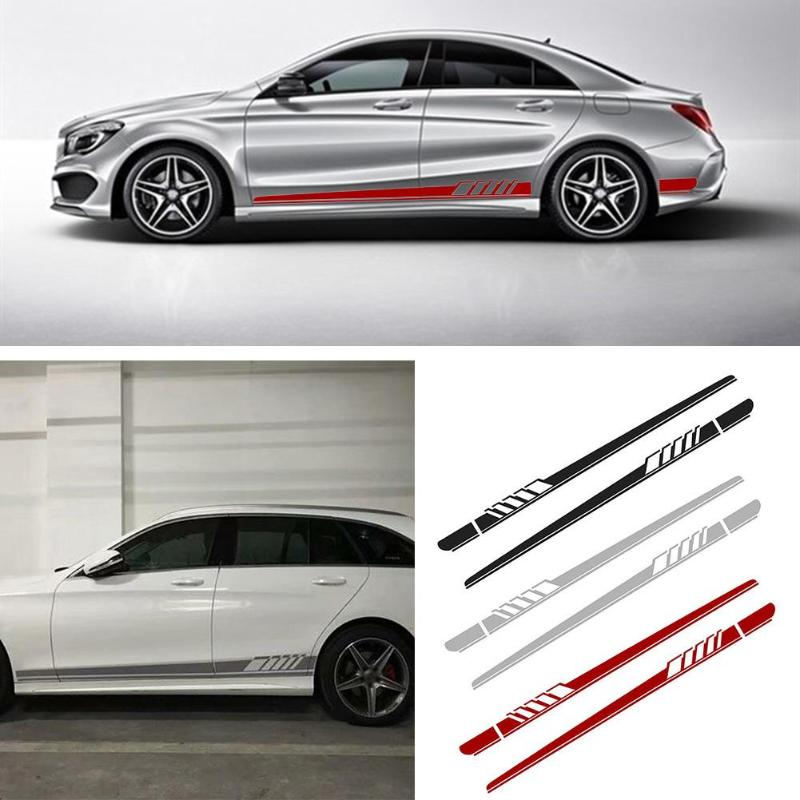 2 pçs 220cm x 11.5cm adesivos de carro auto lado corpo decalques vinil longo listra adesivos à prova ddiy água auto diy adesivo estilo do carro