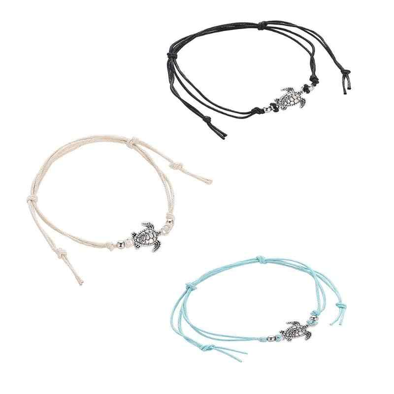 Powłoki mody damskie łańcuszek na kostkę bransoletki na nogę czeski Foot Ocean biżuteria Drop Shipping splot Turtle wisiorek obrączki