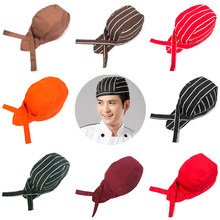 db0499cbcfca0 Pirate Chef Hat Cook Cap Sushi Japanese Catering Kitchen Waiter Men Women  (Red and White Stripes)
