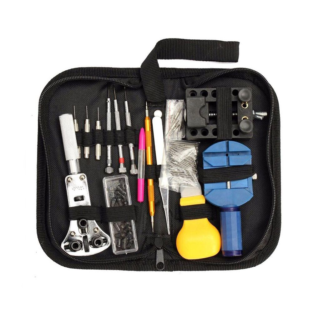 Uhr Reparatur Kit, 144 Pcs Uhr Tool Kit Frühling Bar Tool Uhr Band Link Pin Remover Tool Set mit Zipper Fall