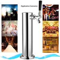 NEW Chrome Polished Stainless Steel Beer Tower Tap Single Faucet Draft for Kegerator Bar Accessory Barware Draft Beer Tower