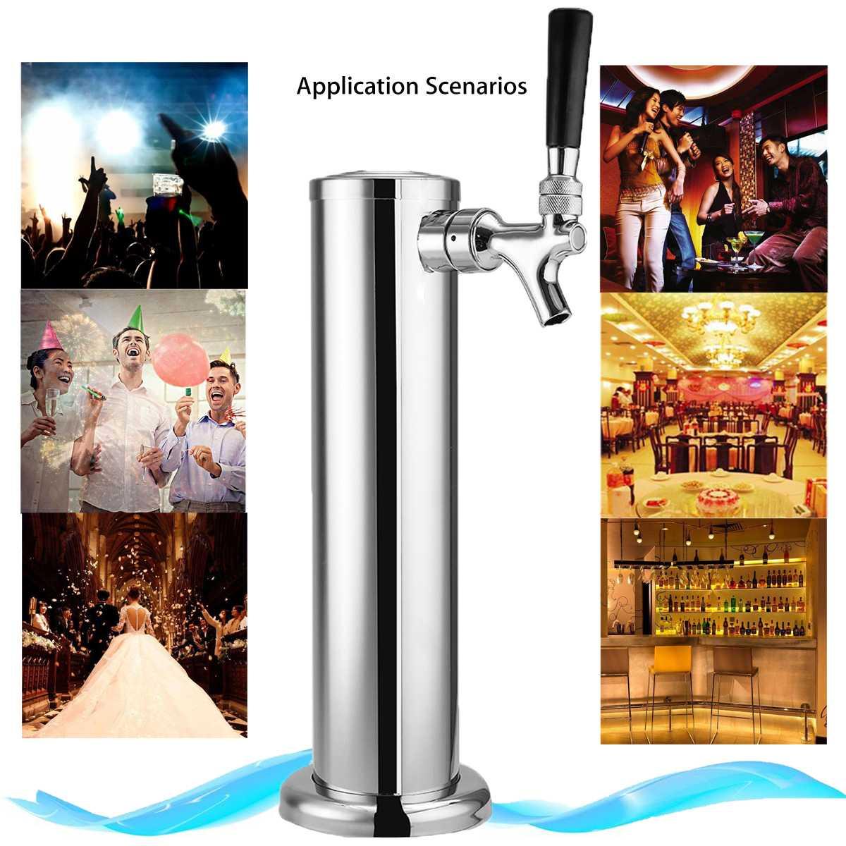 Nouveau robinet de tour de bière en acier inoxydable poli chromé robinet unique pour Kegerator Bar accessoire Barware tour de bière