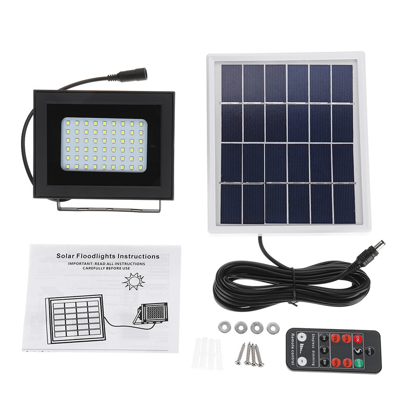 Waterproof 54LED Solar LED Floodlight Light Control+Manual/Remote Control IP65 Outdoor Light for Wall Road Solar Lamps SpotlightWaterproof 54LED Solar LED Floodlight Light Control+Manual/Remote Control IP65 Outdoor Light for Wall Road Solar Lamps Spotlight