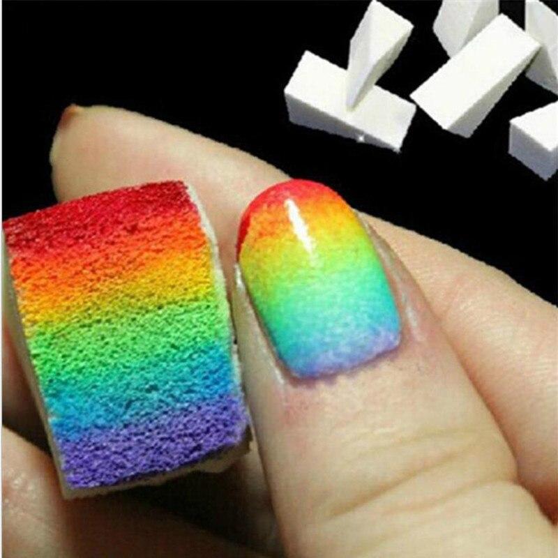 Two Tone Nail Polish Fade: Nail Files 24pcs Color Fade Soft Sponges Gradient Nail