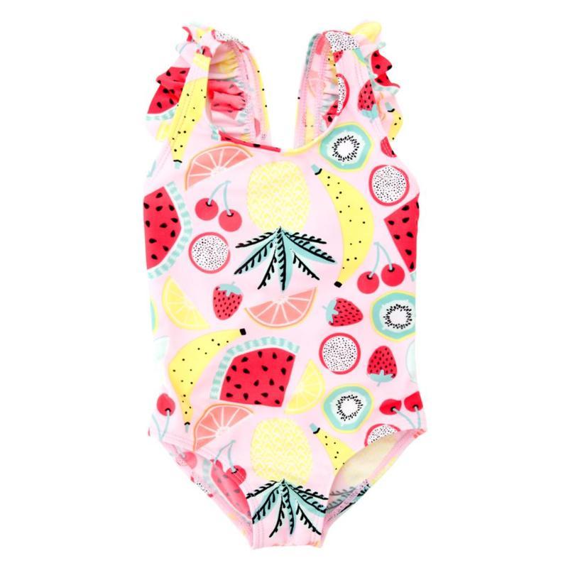 1 Stücke Sommer Baby Mädchen Bikini Einteiliges Badeanzug Sleeveless Obst Druck Bademode Mädchen Badeanzug Kinder Kinder Schwimmen Anzüge GroßEr Ausverkauf