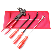 4 Pieces Set Rivet Buckle Removl Tool Set Clean up tyres, stones, glass and metal for Car Auto Tire