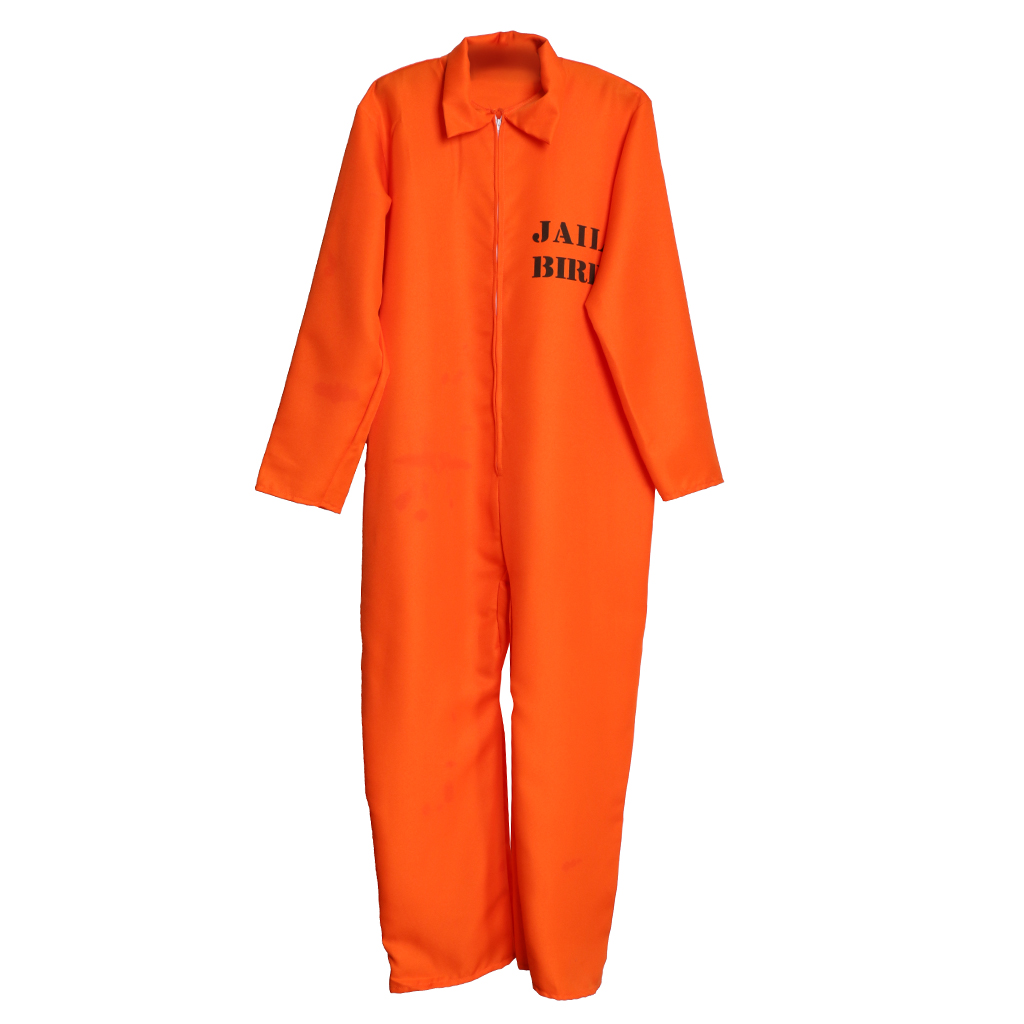 52f6ea700f6 prettyia Spandex Prisoner Overall Jumpsuit Convict Stag Do Party Fancy Dress  Costume Accessory for Stag Do s