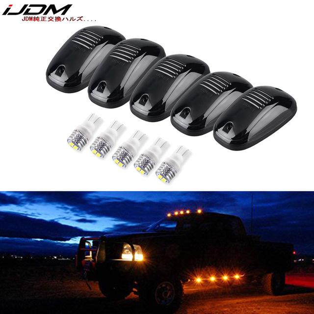 5pcs Roof Running Light Led Cab Clearance Marker Lamps For Dodge Ram 1500 2500 3500