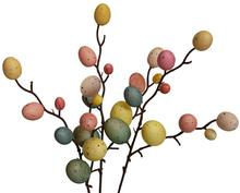 3Pcs Easter Decoration Supplies Creative Egg Tree Decor Branch With Painting Eggs