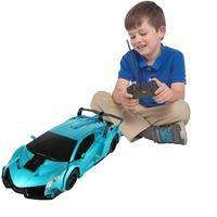 1pc Transform Car Robot Toy Children Transforming Robot Remote Control Car One Button Transformation 1:12 Scale