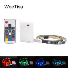 RGB LED Strip Battery Fita 5V Waterproof SMD 5050 RF Remote Control TV Backlight Battery Operated Tira LED Tape Stripe Ribbon 5v rgb led strip 5050 2835 tira led usb ribbon rgb backlight tape for computer tv fita led stripe flexible neon light warm white