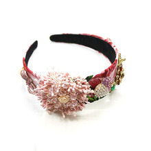Woman Headdress Tiara Wedding Hair Accessories Flower Baroque Headband Party Bridal Hairbands Jewelry