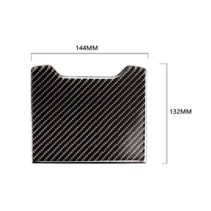 Image 3 - עבור מרצדס בנץ C Class W205 C180 C200 C300 GLC260 סיבי פחמן רכב האחורי משענת תיבת אחסון לוח כיסוי