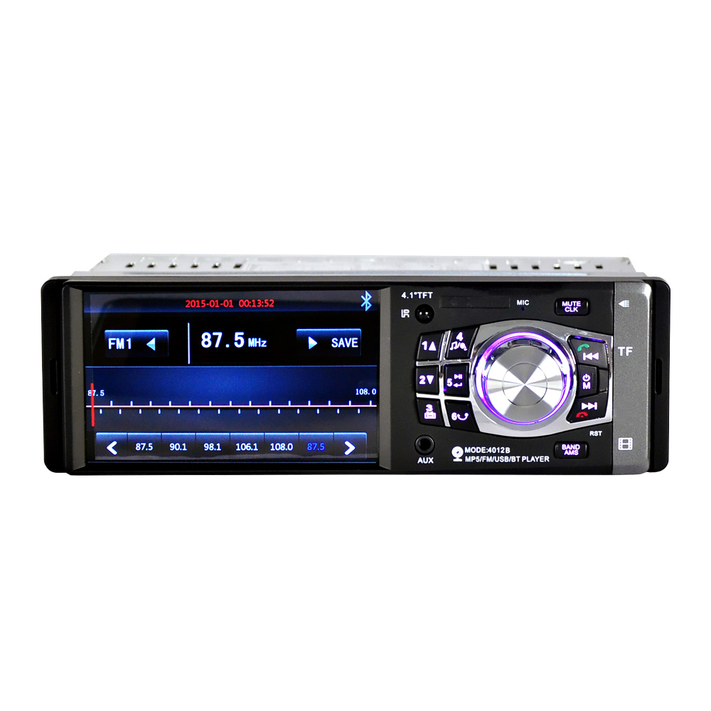 4012B 4.1 pouces voiture Bluetooth voiture Mp4 lecteur voiture Usb carte Machine volant télécommande inversion avec inversion Photog