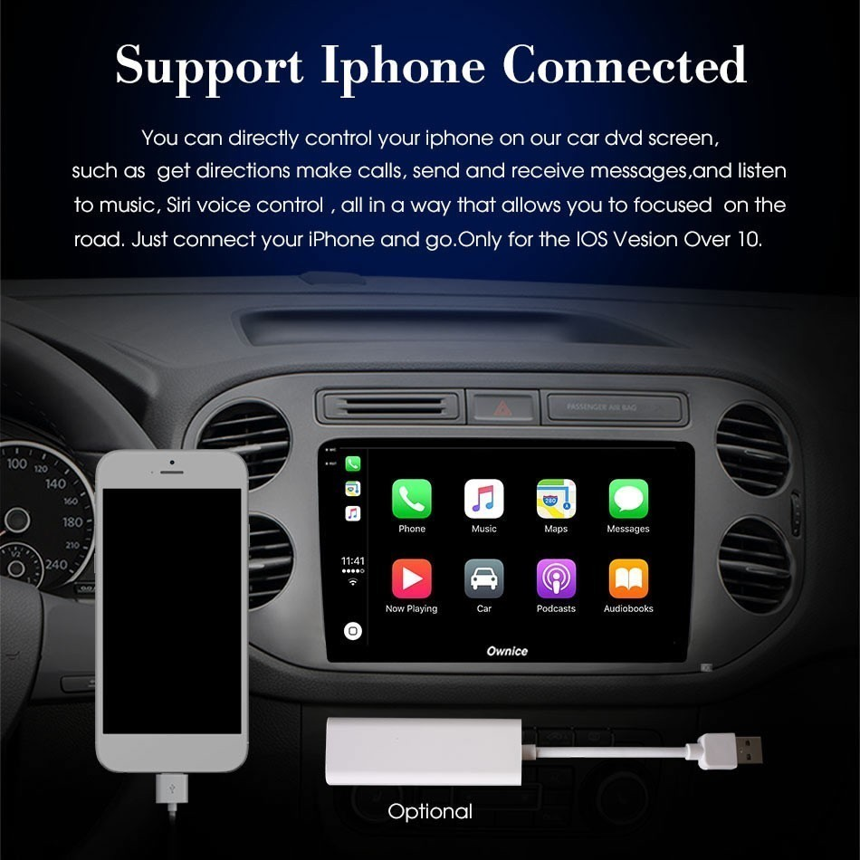 Carplay USB dongle for android car navigation gps with smart link Supports iOS Phones - 6