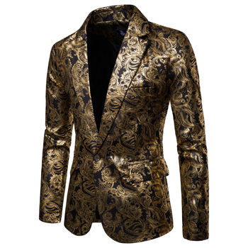 2020 Brand New Male Slim Fit DJ Club Stage One Button Blazer Man Formal Wedding Suit Men Casual Slim Fit Formal Suit Blazer