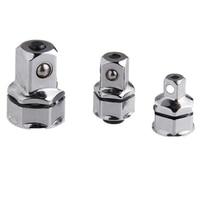 3 stück Schlüssel Buchse Adapter Set 1/4 Zoll 3/8 Zoll 1/2 Zoll Platz Hex Griff Cr V Schnell release Stick Sleeve Adapter|Handwerkzeug-Sets|Werkzeug -