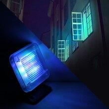 Powstro テレビシミュレータ回転式盗難防止フェイクテレビ led ライト Usb 電源内蔵 4 モードサポートタイマー LED テレビシミュレータ