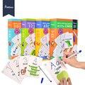 MiDeer Дети Обучающие игрушки карты для активных игр запись и вытирание алфавита слова математическая игра ранние учим английский игрушки для...