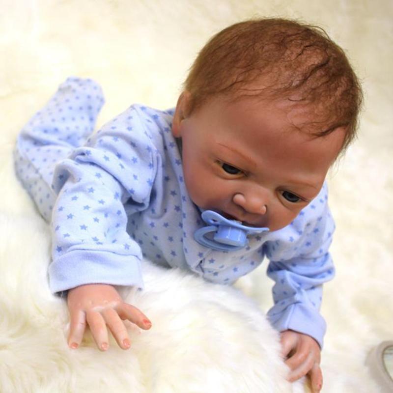 NPK 50cm Cloth Cotton Simulation Doll Realistic Vinyl Reborn Baby Simulator For Girls Toys Playmate Gifts  NPK 50cm Cloth Cotton Simulation Doll Realistic Vinyl Reborn Baby Simulator For Girls Toys Playmate Gifts