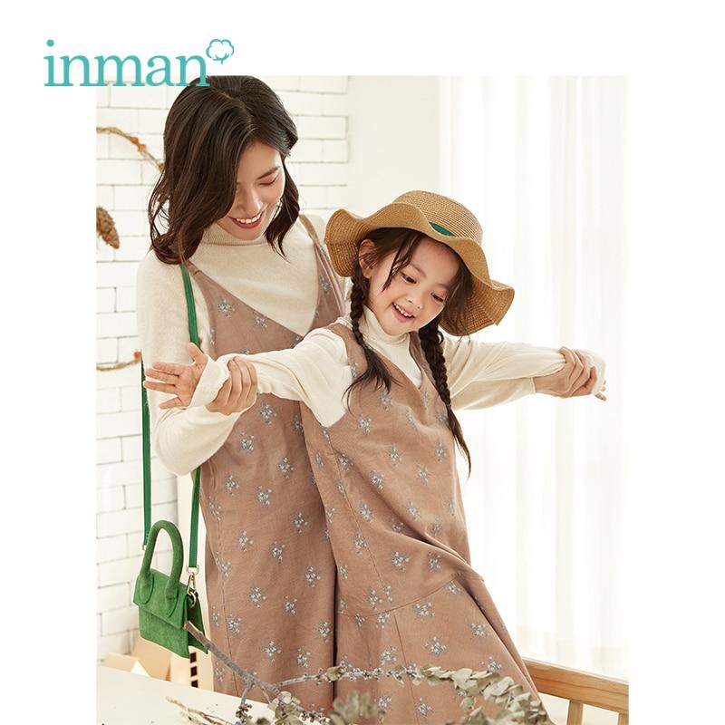 INMAN Retro Style Sling Vest V Neck Fishtail Swing Women Floral Print Dress