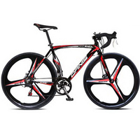 tb820/Aluminum alloy road car / bike / men and women / two disc brake speed road race bicycle/Magnesium alloy integrated wheels
