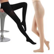 Компрессионные чулки бедра для мужчин и женщин, высокие колготки с закрытым носком, облегчающие боль, тонкие носки для ног