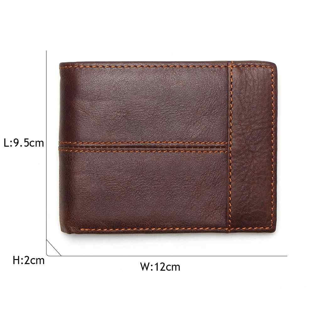 Portefeuille Vesna TAUREN classique en cuir véritable pour hommes porte-monnaie avec fermeture à glissière portefeuille en cuir pour hommes avec porte-monnaie Cartera