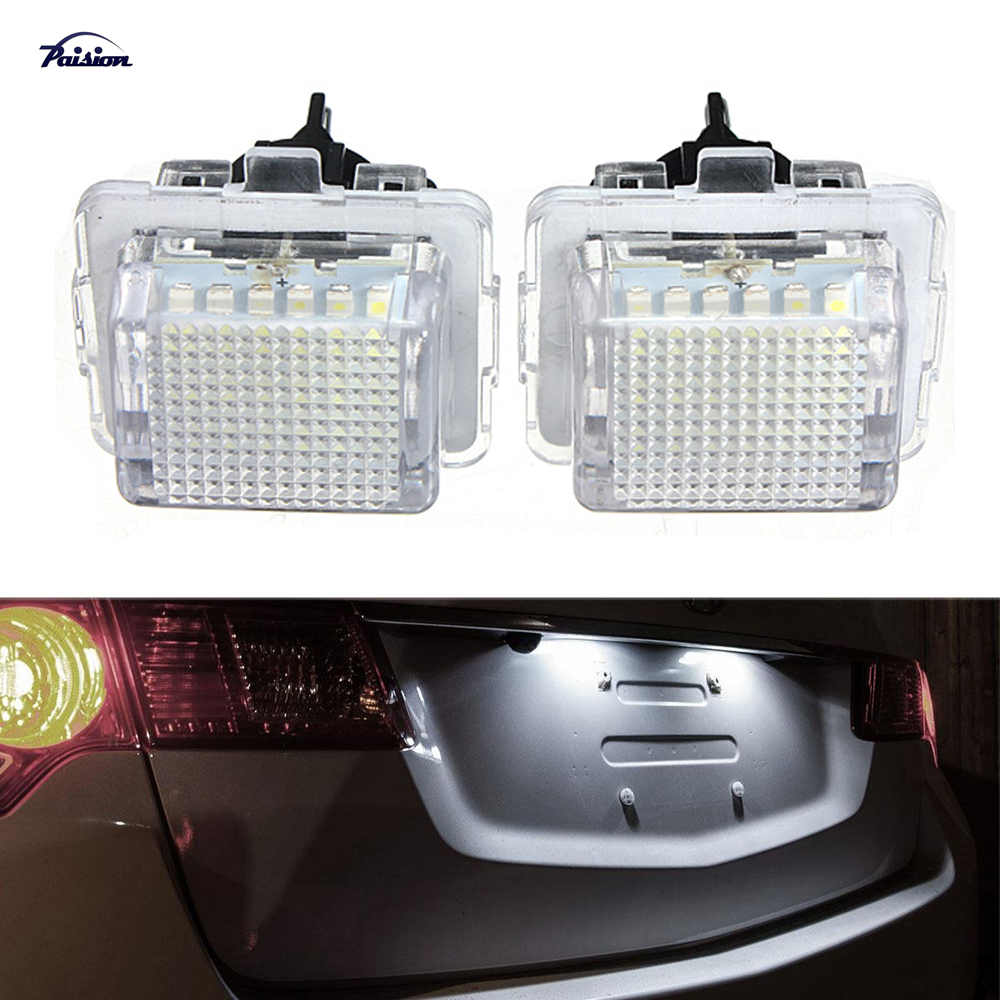 US $9 54 17% OFF|2Pcs Error Free 18SMD LED License Plate Light Kit  Replacement For Mercedes Benz W204 S204 C180 C200 C280 C300 C350 C63 AMG-in  Car