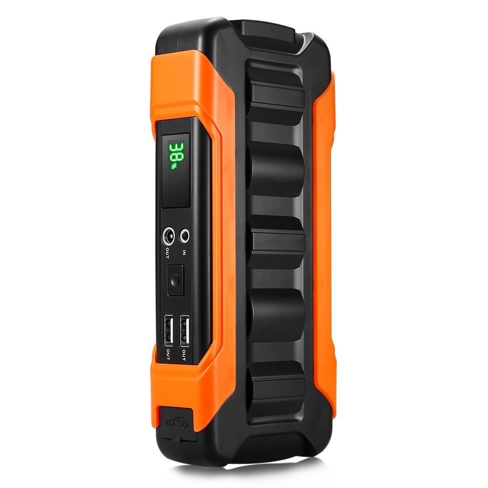 Dédouanement U12 USB démarreur de saut de voiture 66.6WH 600A affichage de LED intelligent chargeur de dispositif électronique de voiture SOS voyant d'avertissement EU prise US