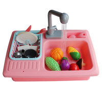 FBIL Children'S Small Kitchen Play Water Cleaning Toys Small Pool Play Home Kindergarten Automatic Circulation Sink Sink Dishw