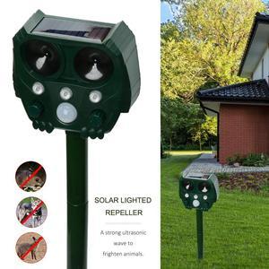 Image 1 - Animal Repeller Solar light bird repeller frighten animals Induction Ultrasonic Strobe Light Burglar Alarm