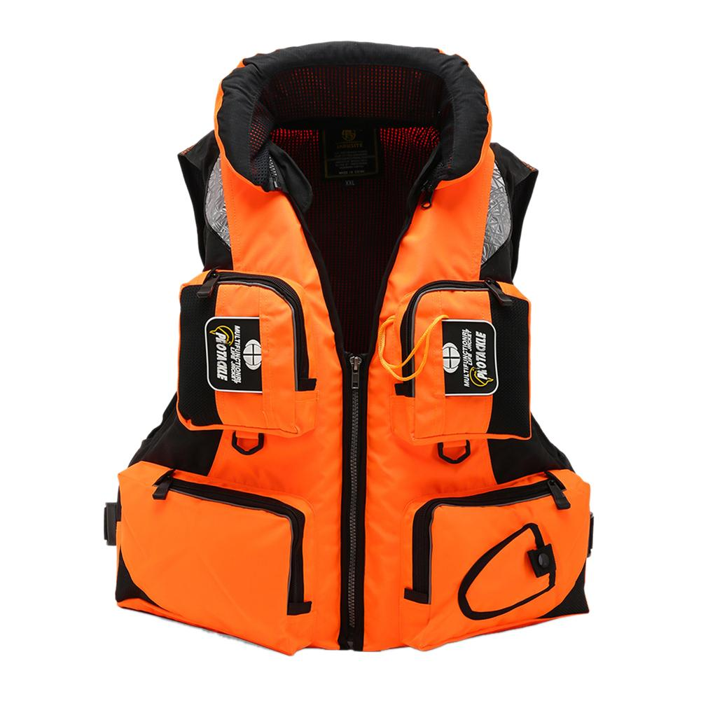 Fly Fishing Vest Life Jacket Snorkeling Buoyancy Suit Boating Swimming Life Jacket Water Sports L 2XL