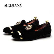MEIJIANA 2018 New Men Leather Shoes Luxury Casual  Fashion Trend Brand Men's Shoes Big Size Slip on Men's Loafers Wedding Shoes