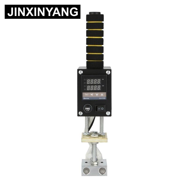 JINXINYANG SC500W ręczny maszyna do tłoczenia na gorąco ciasto ze skóry z drewna znaczek narzędzie marki niestandardowe wytłoczone logo maszyny do wytłaczania
