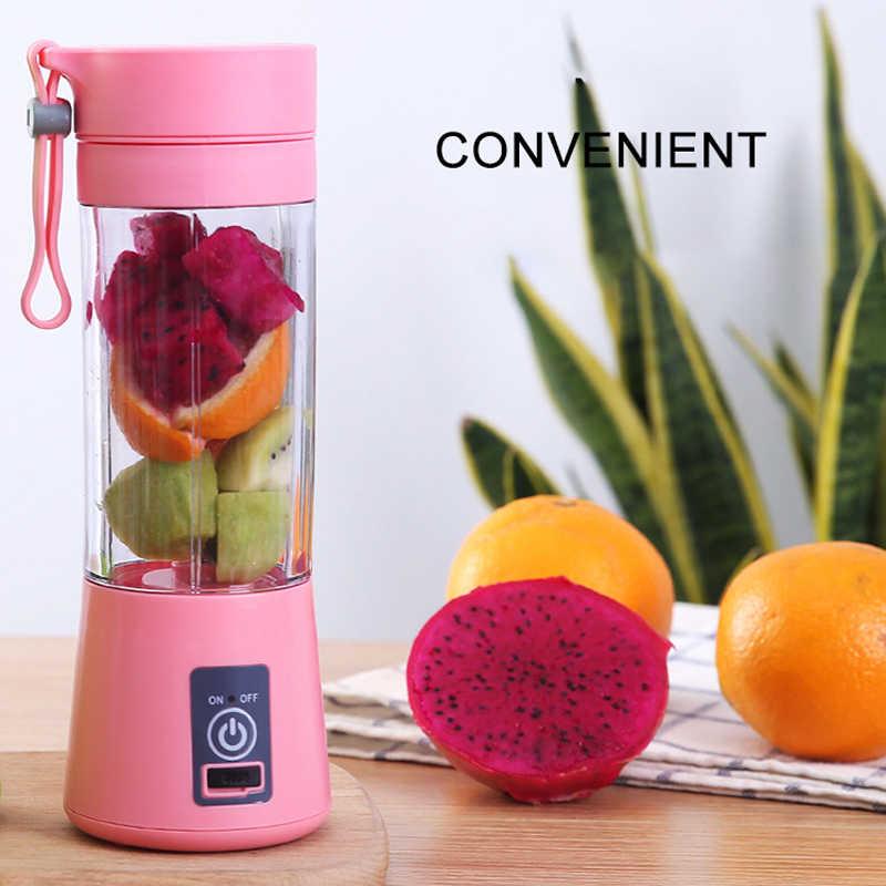 380 ml portátil Liquidificador Vegetais Fruit Citrus Juicer Copa USB Elétrico Recarregável Automática Fabricante de Suco De Laranja Copo Garrafa Misturador