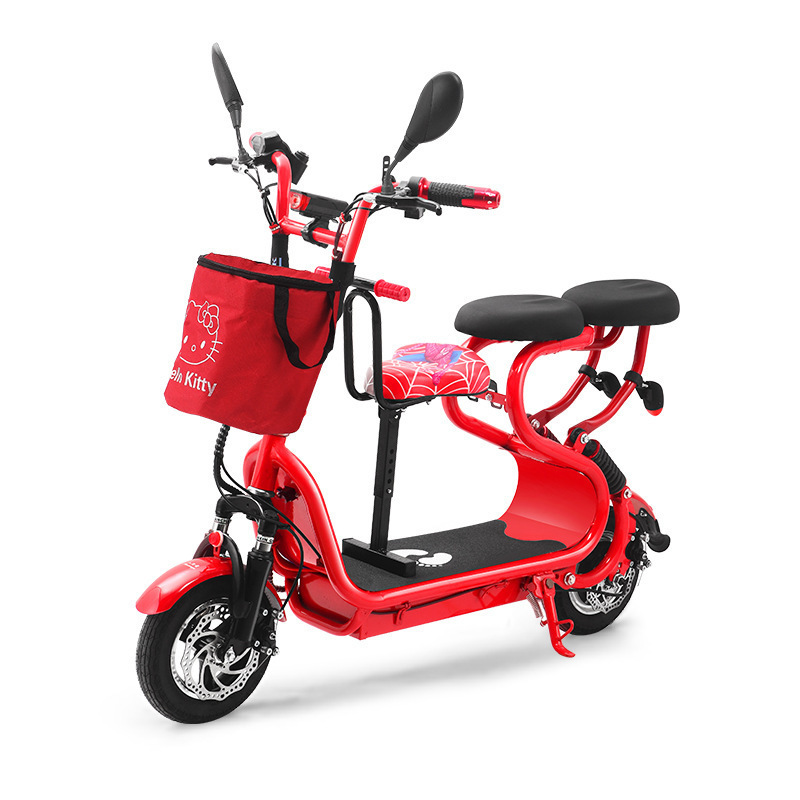 People Walker Small Harley Electric Vehicle Adult Small scale Mini Fold Two Wheel Lithium Battery electric car