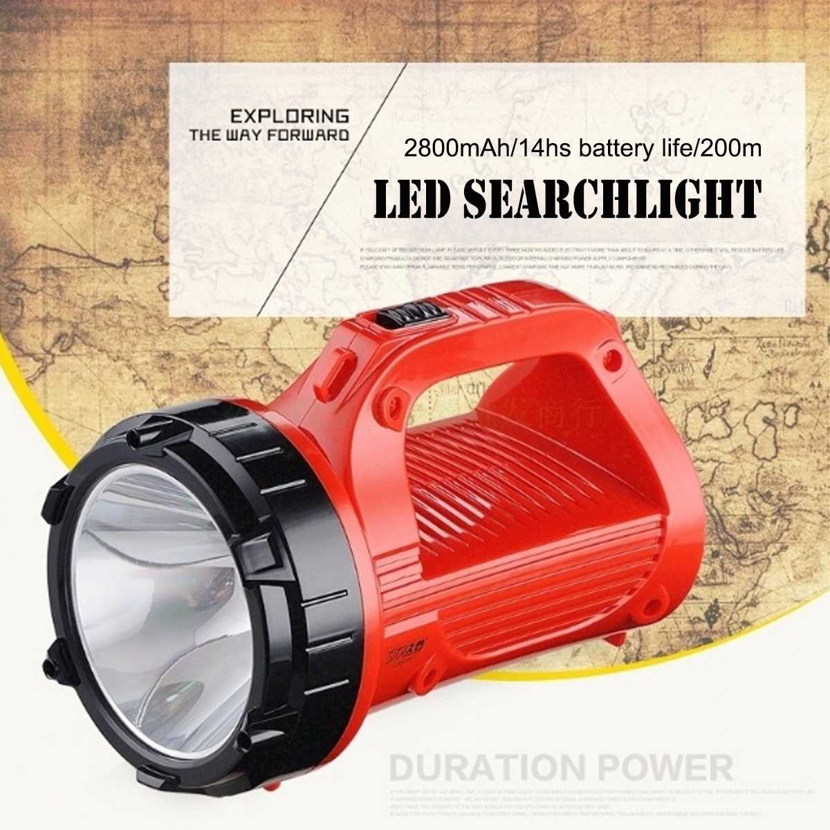 Led Portable Spotlight Led Work Light Rechargeable 3W 2800mAh 100-200m 7/14Hs Outdoor Flashlight Torch for Caving Hiking CampingLed Portable Spotlight Led Work Light Rechargeable 3W 2800mAh 100-200m 7/14Hs Outdoor Flashlight Torch for Caving Hiking Camping