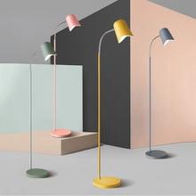 Post-modern Led Light Floor Iron Floor Lamp Fixtures Living Room Bedroom Study Desk Standing Lamp Luminaire Lighting