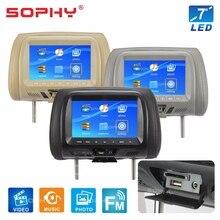 """SOPHY Универсальный """" Универсальный автомобильный монитор заднего сиденья AV USB SD MP4 MP5 FM динамик SH7048-P5"""