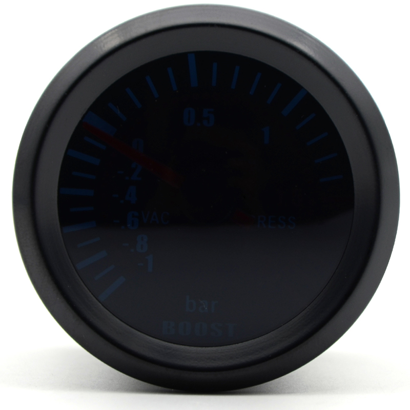 "2"" 52mm Black Car Universal LED Psi Turbo Boost Gauge Meter Pod Holder Hose Set high quality suitable for cars"