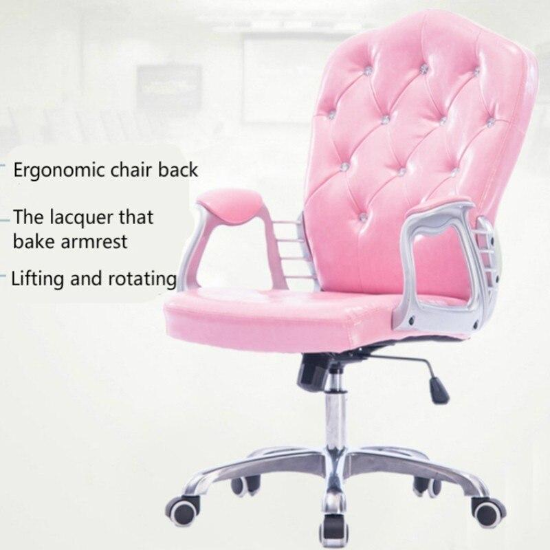 Купить с кэшбэком Style Lifted Computer Chair Household Multi-function Swivel Chair Rotated Office Executive Chair Slidable Makeup Stool