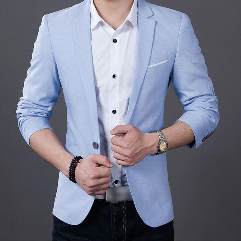 MISSKY 2019 New Men Solid Color Suits Jacket Casaco Terno Masculino Suit Cardigan Jaqueta Wedding Suits Jacket Spring Autumn