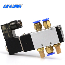 Air Solenoid Valve 5 Way Port 2 Position Gas Pneumatic Electric Magnetic Valve 12V 24V 220V Coil Volt 4mm 6mm 8mm Hose 4V110-06 стоимость