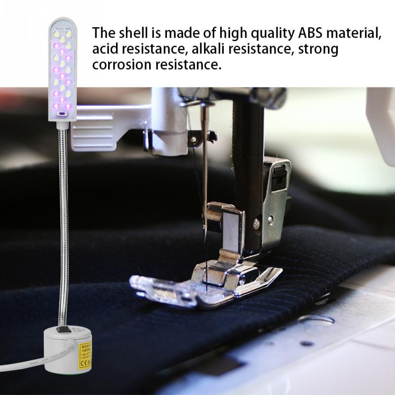 LED Industrial Lamp Light Dual Colors Lamp Sewing Machine Light Lampen Industrieel 110-240V With Magnetic Base Switch 20 Leds