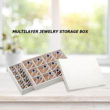 Simple Jewelry Box Multi-Layer Ring Earring Holder Necklace Display Stand Holder Boxes Home Make up Storage Organizer Box Case(China)