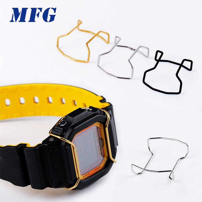 MFG montre pare-chocs DW-5600 protecteur fil gardes accessoires 100% métal acier inoxydable taureau Protection anneau